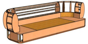 (English) 3d model of the sofa frame