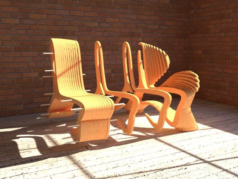 Сборка кресла из фанеры