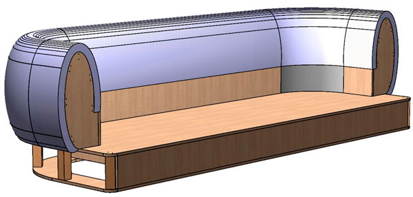 3d model of the sofa frame