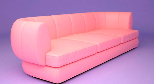 (English) 3d model of the sofa