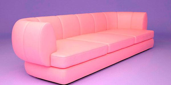 עיצוב תלת ממדי של רהיטים. ספה.