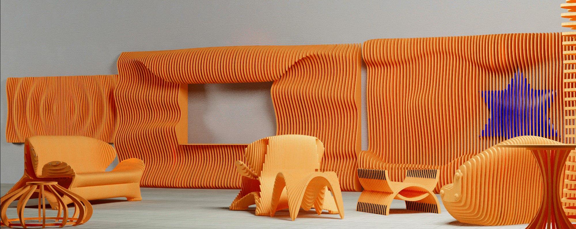 Параметрический дизайн мебели и предметов интерьера
