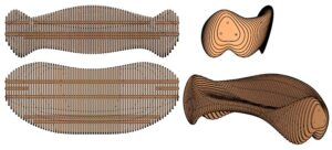 Drawings of the parametric chair
