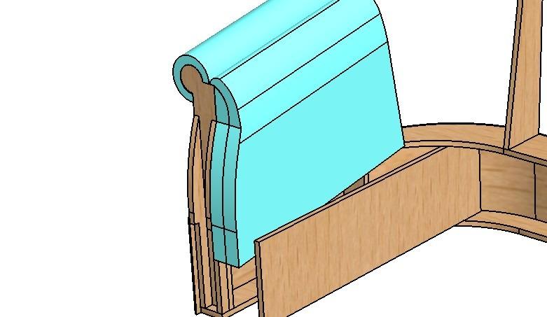 3D моделирование поклейки поролона на диван