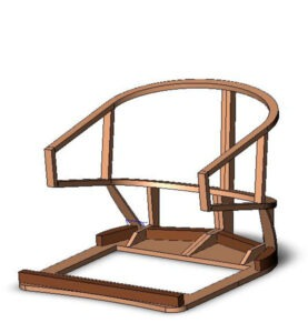 [: RU] 3d model of the Chair frame [: En] 3d model frame chair [: il] ציור כיסאות מסגרת המפרט [:]
