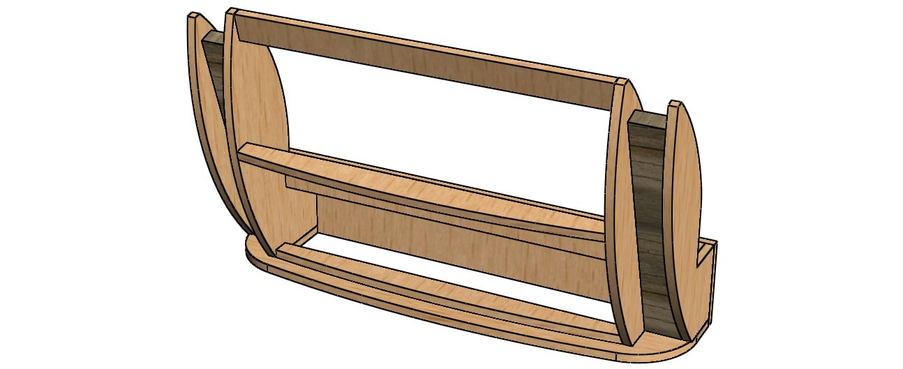 3d model of the sofa backrest frame