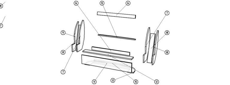 [: ru] Drawings of the backrest of the sofa [: en] Sofa backrest Drawings [: il] שרטוטים משענת הספה [:]