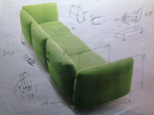 [: RU] The task for the design of the sofa [: en] The task for the design of the sofa [: il] המשימה the העיצוב של הספה [:]