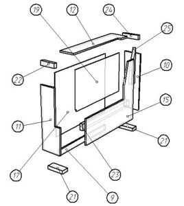 (English) Drawing sofa Capitone frame assembly